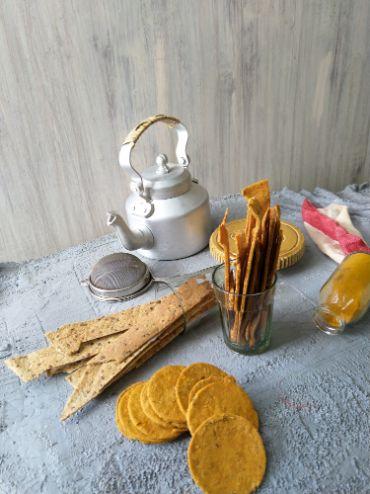 Multigrain Baked Lavash Crackers