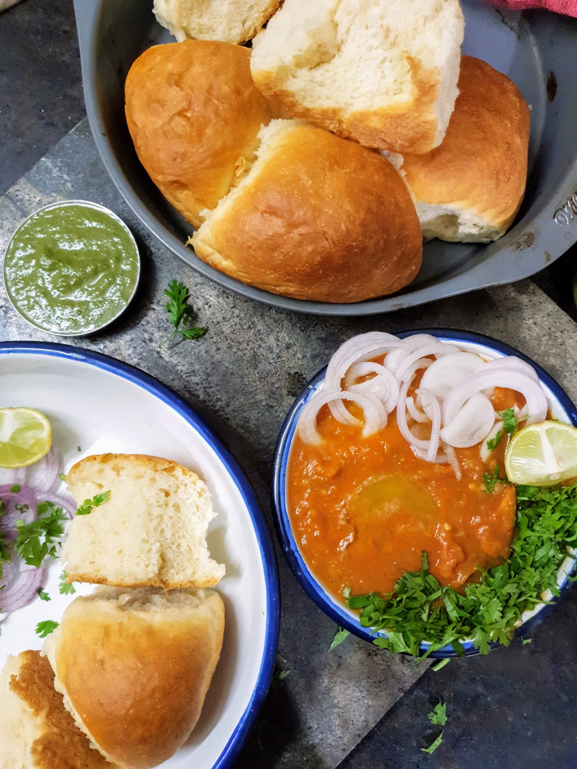 Pav Bhaji Recipe… Mumbai Style Pao Bhaji