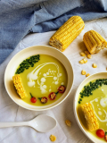 Chilled corn and coconut Soup