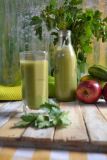 Detox  Summer Drink with Cucumber, Celery and Apple