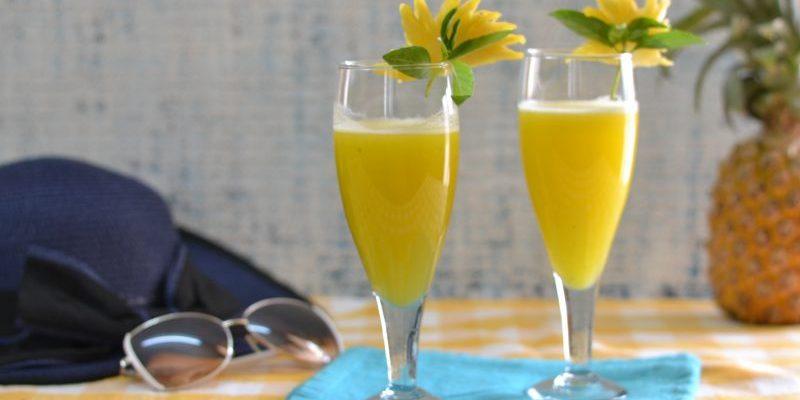 Ultimate  Pineapple Thai Summer Mocktail/ Pineapple Lemongrass and Basil Mocktail