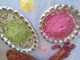 Easy way to make, gulaal at home and play safe Holi