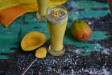 Lassi with Mangoes And Basil seeds/  Mango Lassi with Sabza